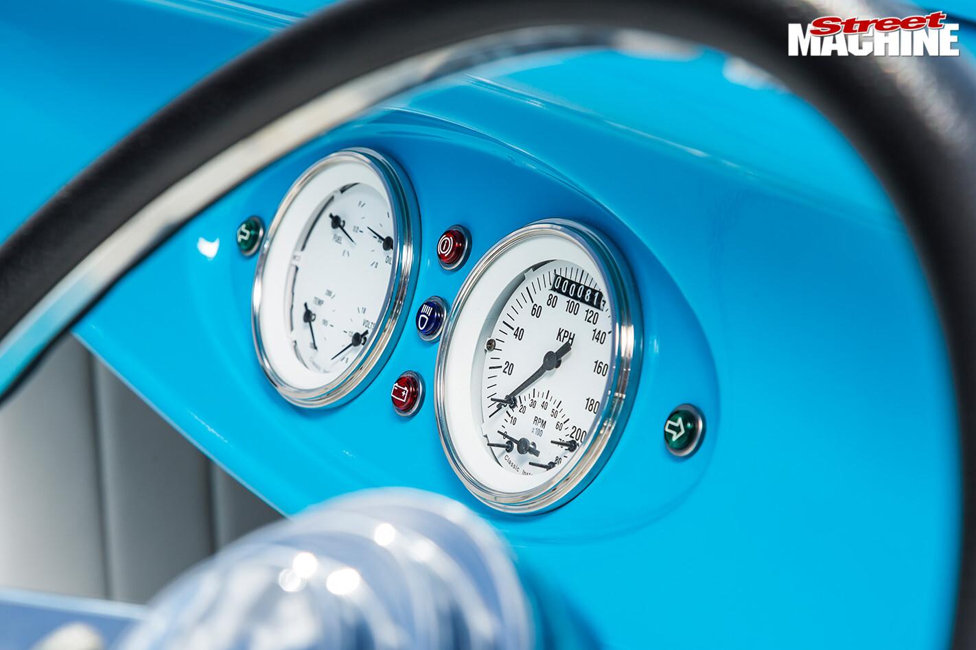 Ford Roadster gauges