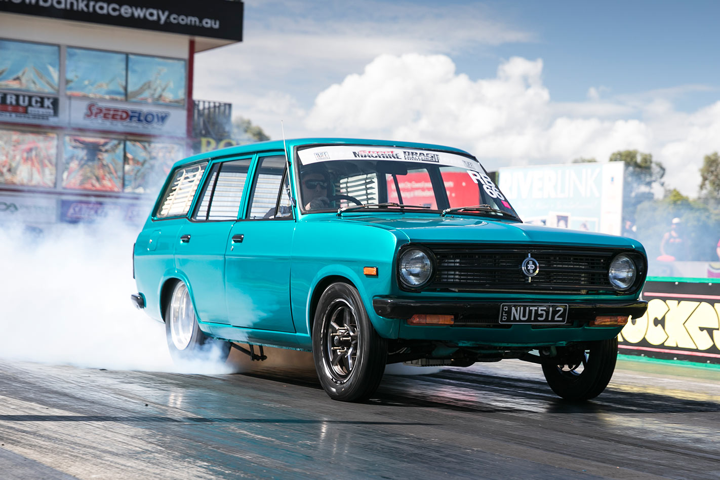 Datsun at drag challenge weekend