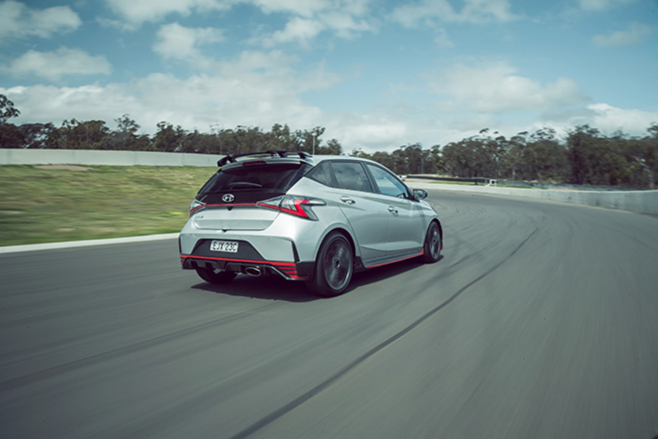 Hyundai i20 N on track