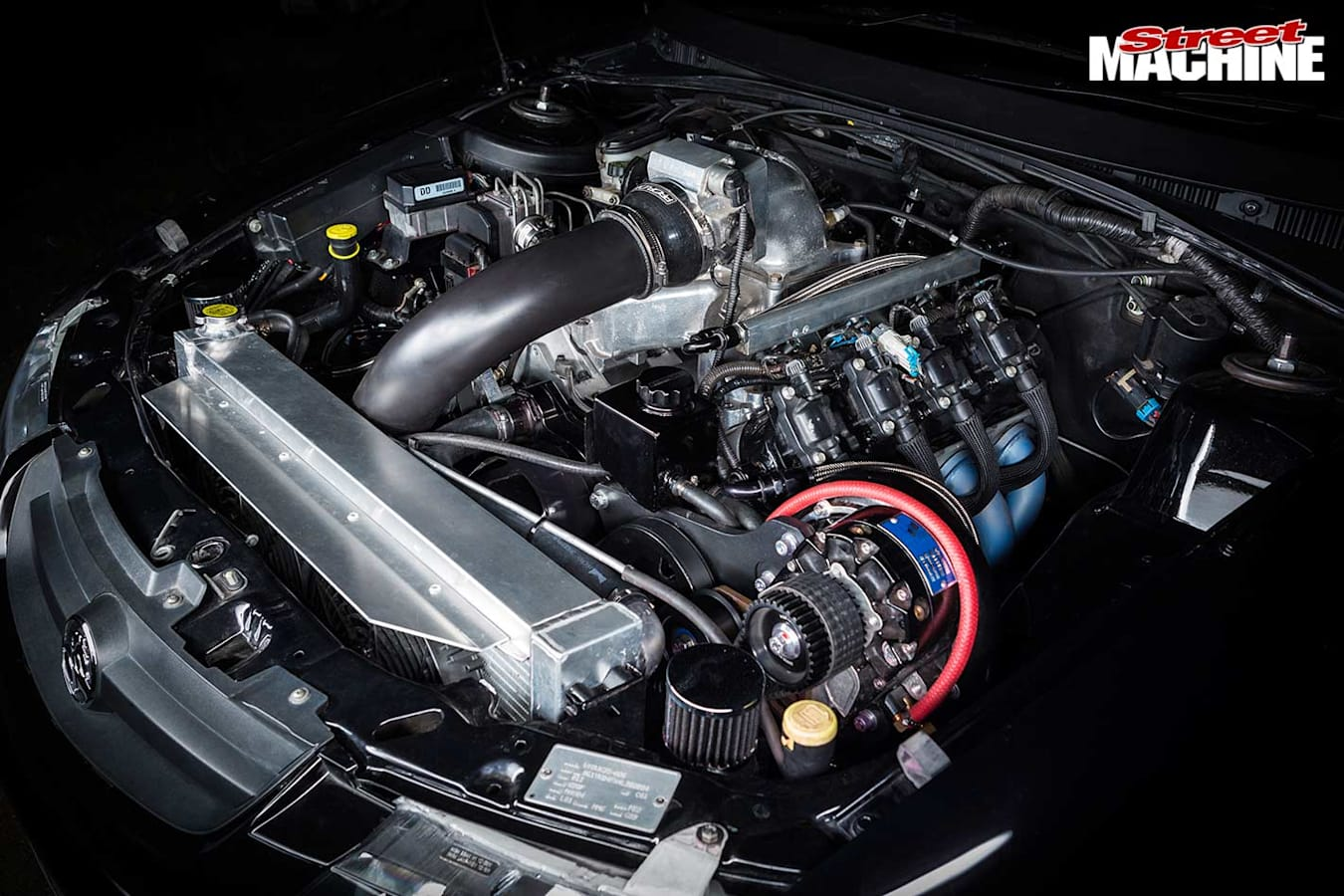 Holden VY SS wagon engine bay