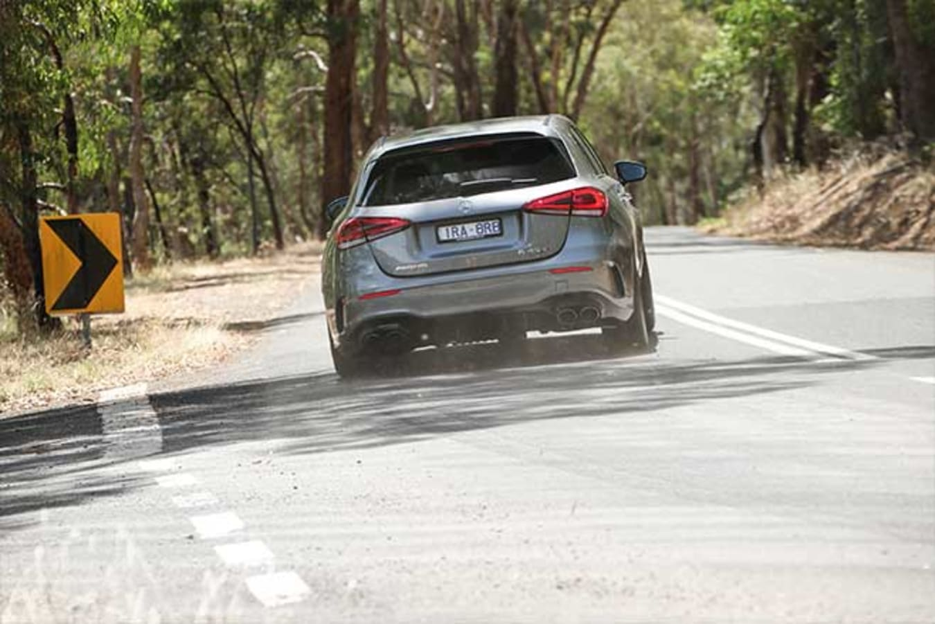 The latest A45 AMG is a much more playful handler