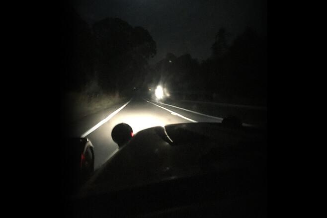 Caterham view ahead night