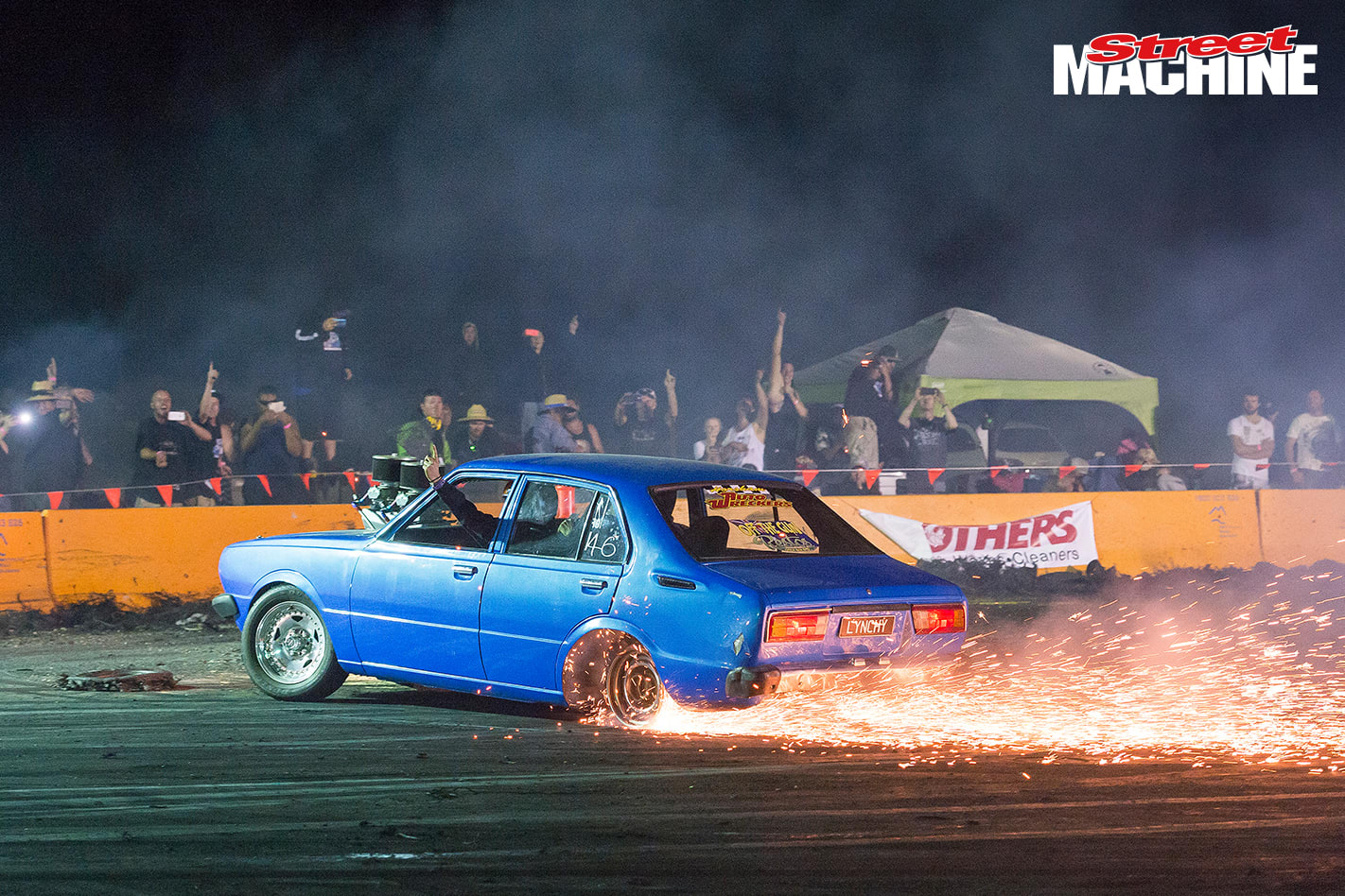 V8 Corolla Burnout LYNCHY