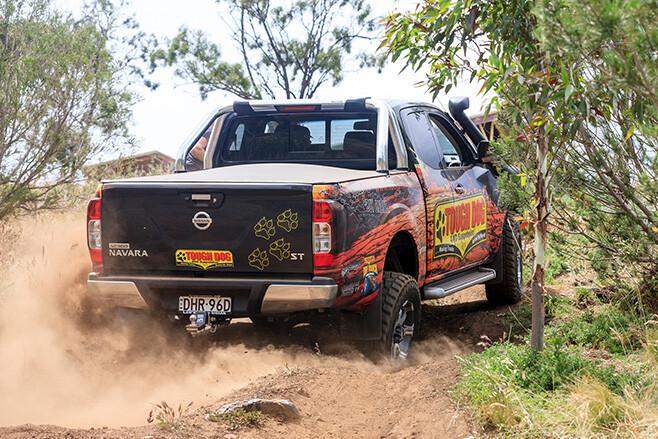 Tough Dog Navara uphill driving