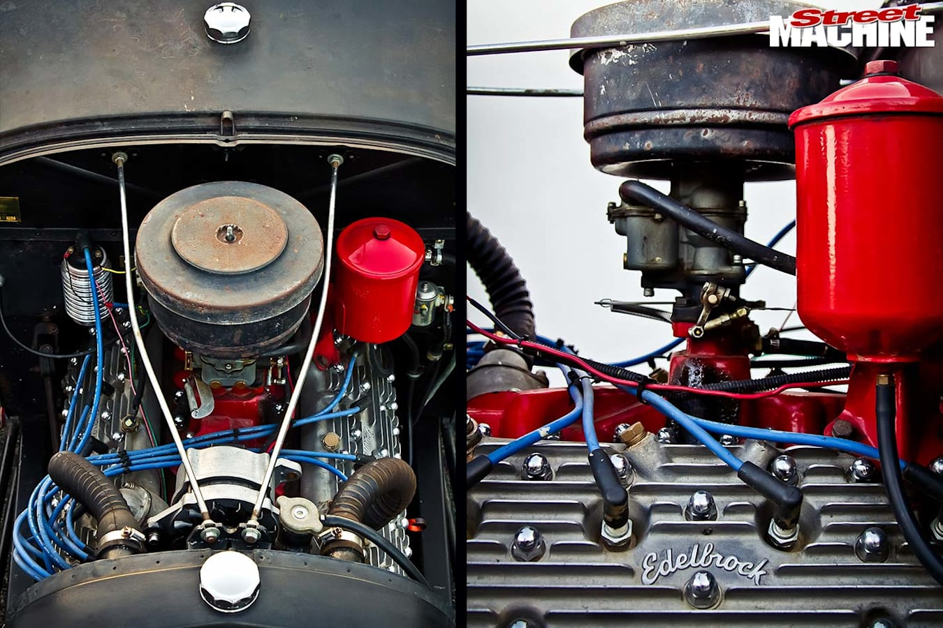 Ford Model A roadster engine