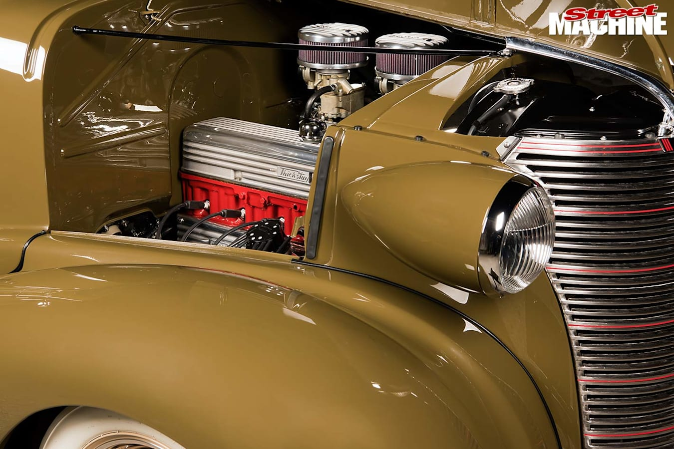 Chevrolet coupe engine bay
