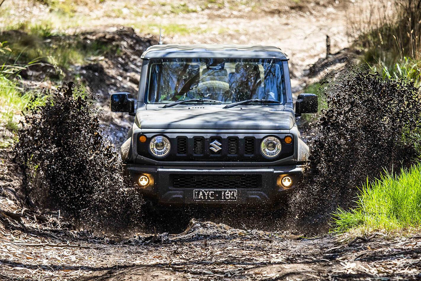2019 Suzuki Jimny Offroad Front Mudsplash Jpg
