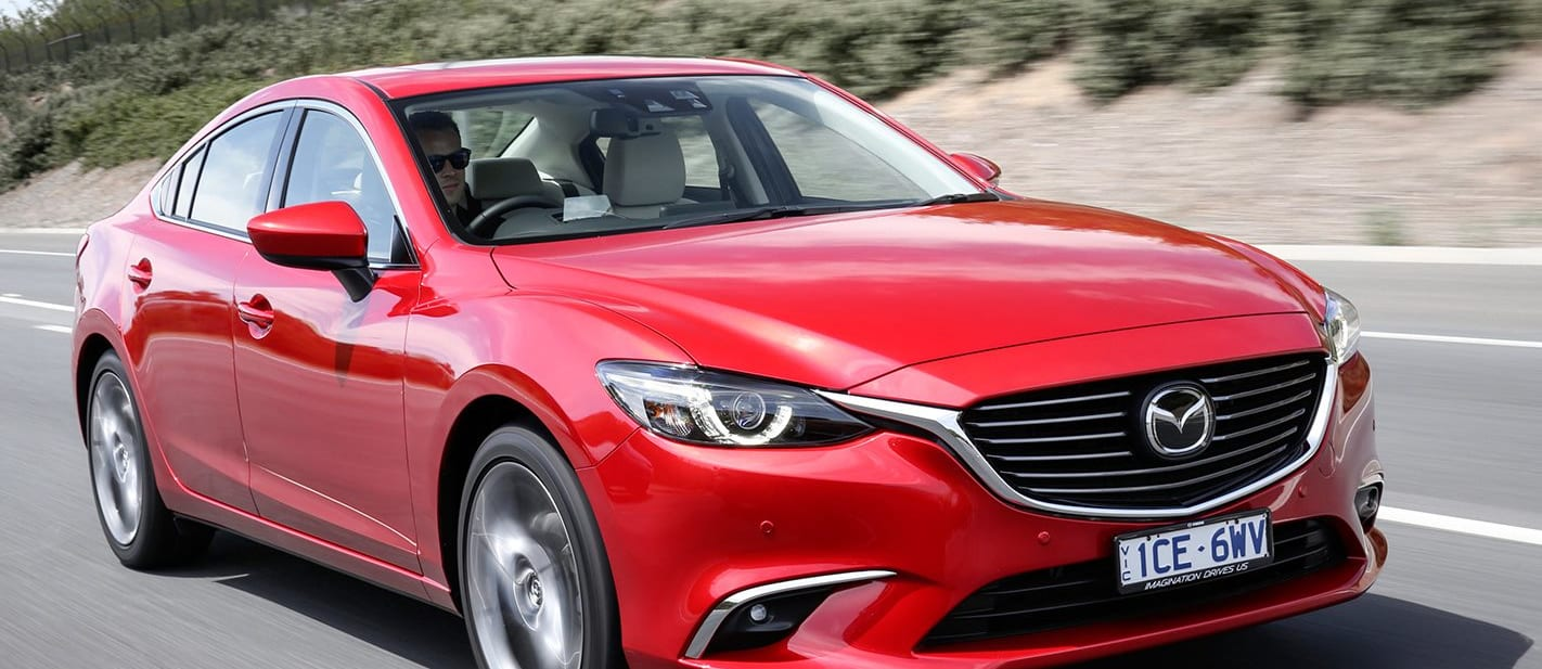 Mazda 6 Driving Front Side View Jpg