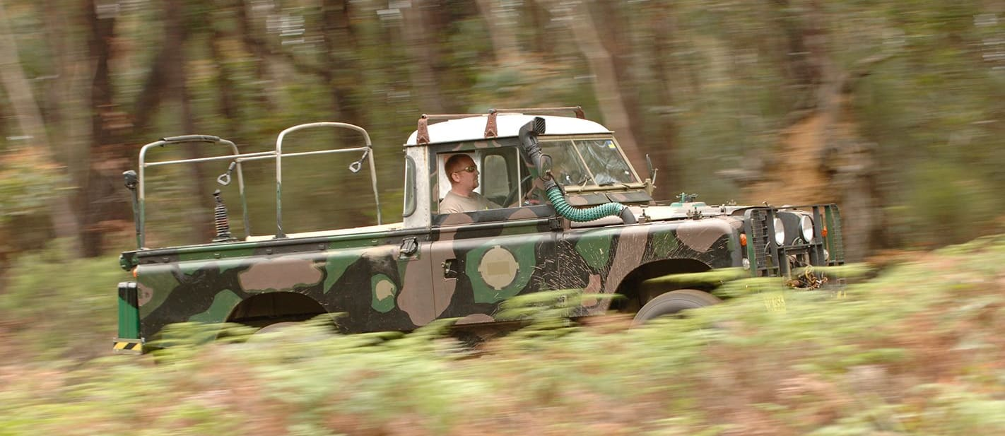 Deano driving a 4WD