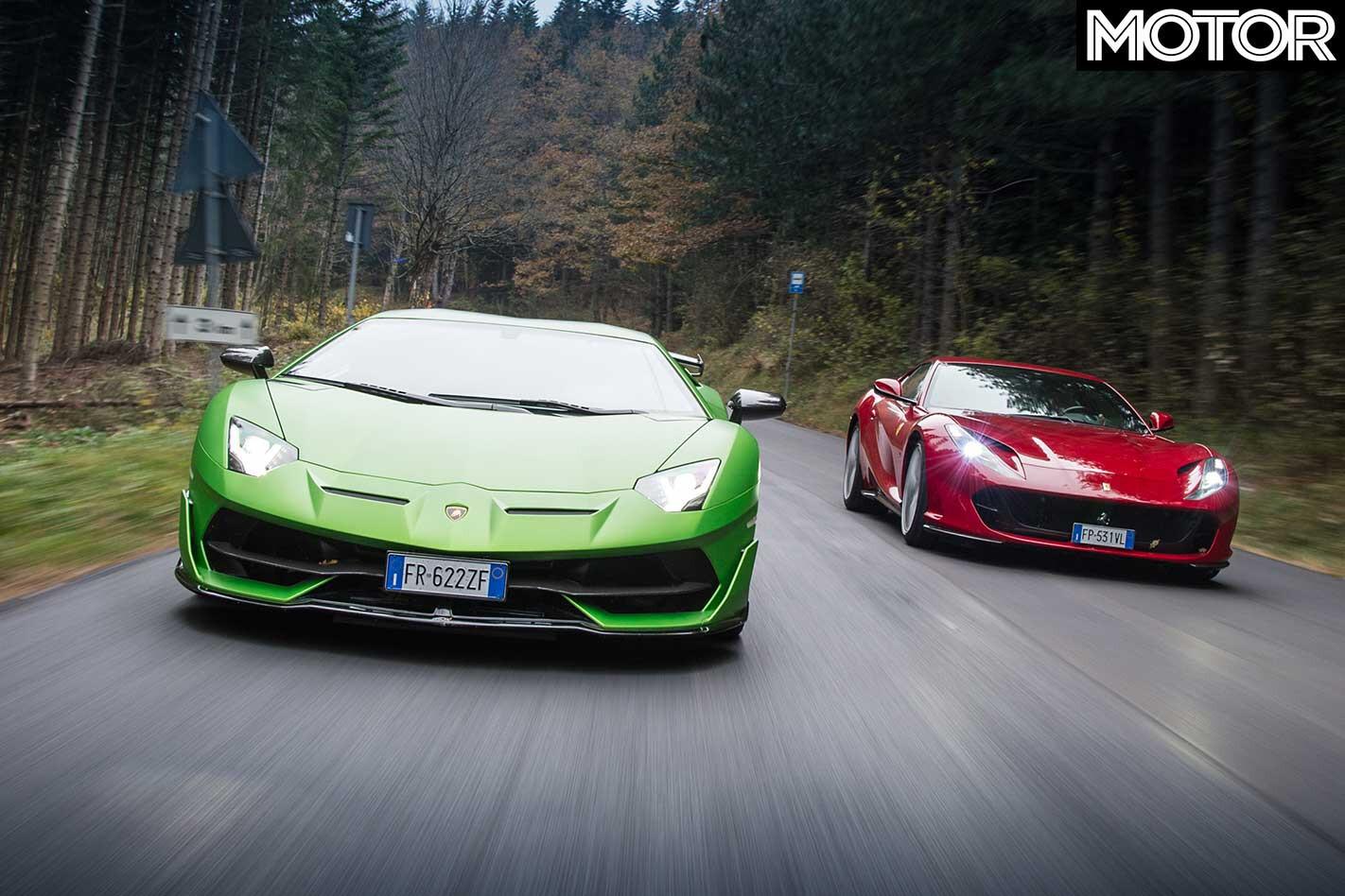 2019 Lamborghini Aventador SVJ Vs Ferrari 812 Superfast Performance Comparison Specifications Jpg