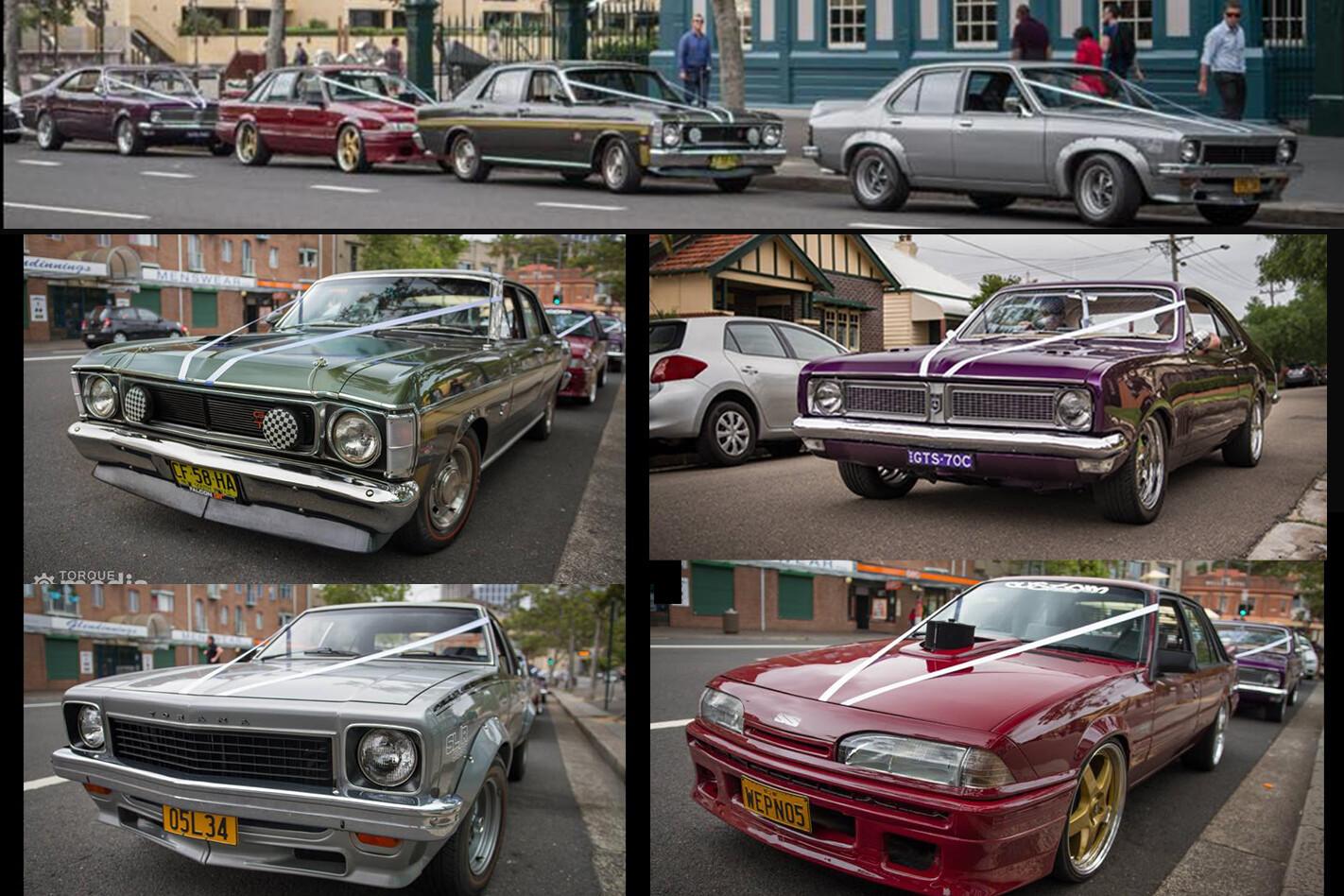 Evan Lloyd's wedding cars