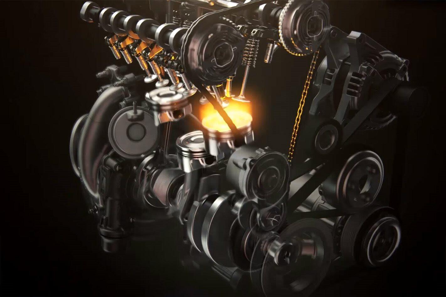 ford ecoboost three cylinder cutaway