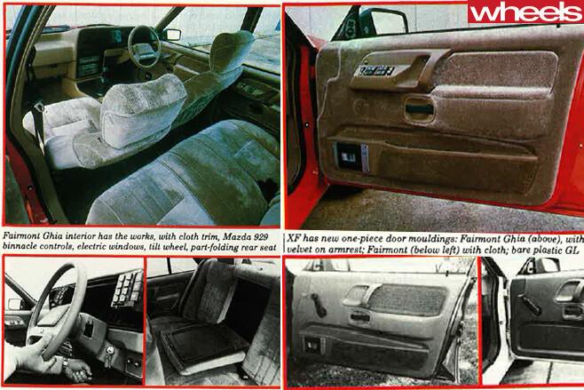 1984-Ford -Falcon -Ghia -interior -doors