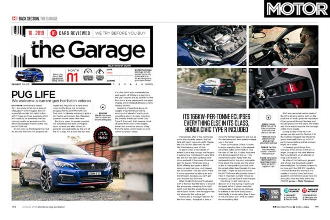 MOTOR Magazine October 2019 Issue 2019 Peugeot 308 G Ti 270 Garage Jpg