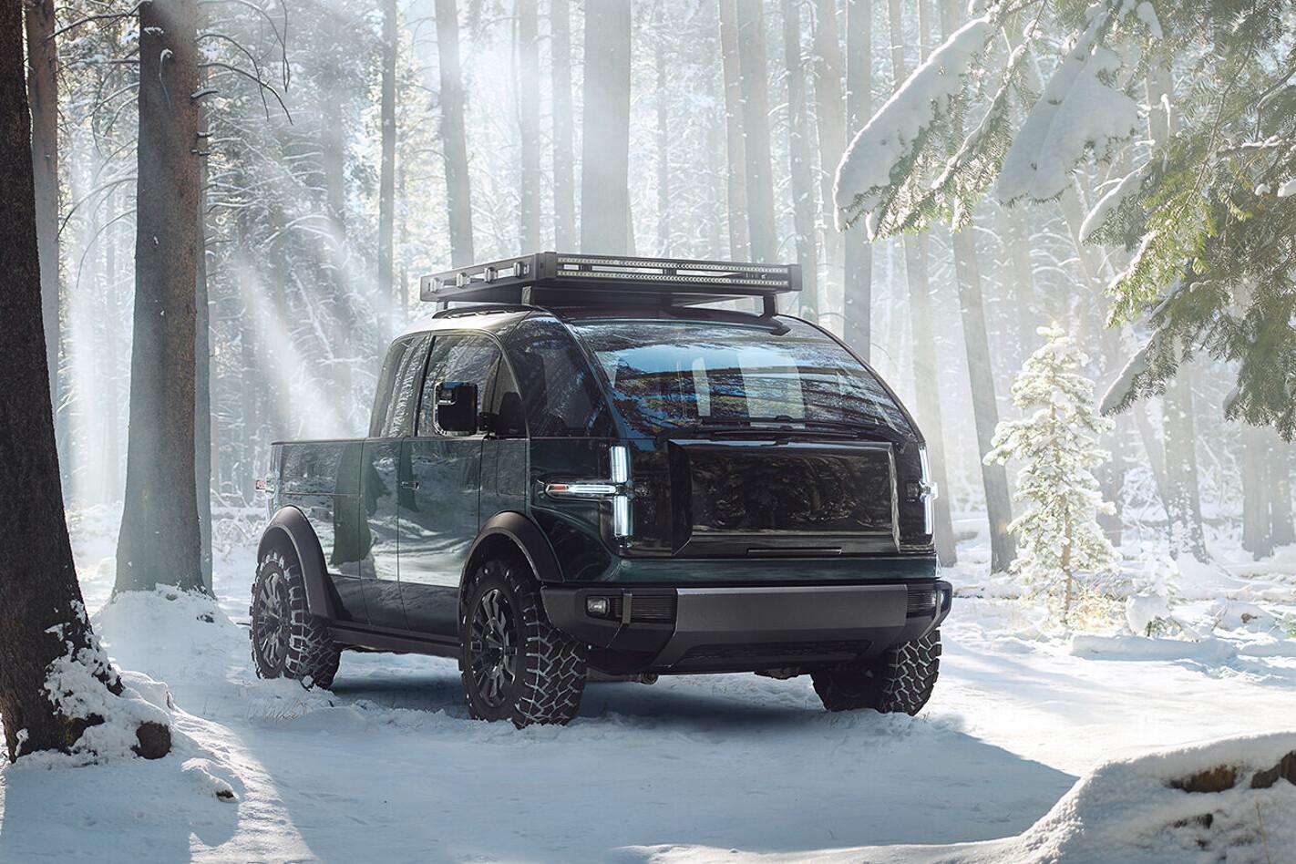 Canoo Pickup Truck Exterior Snow 1 2 Jpg