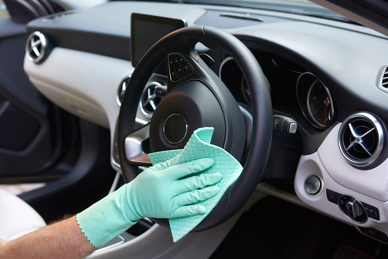 how to sanitise car