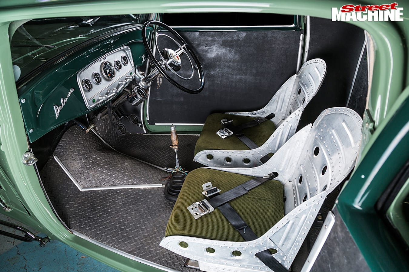 Ford 3-window coupe interior