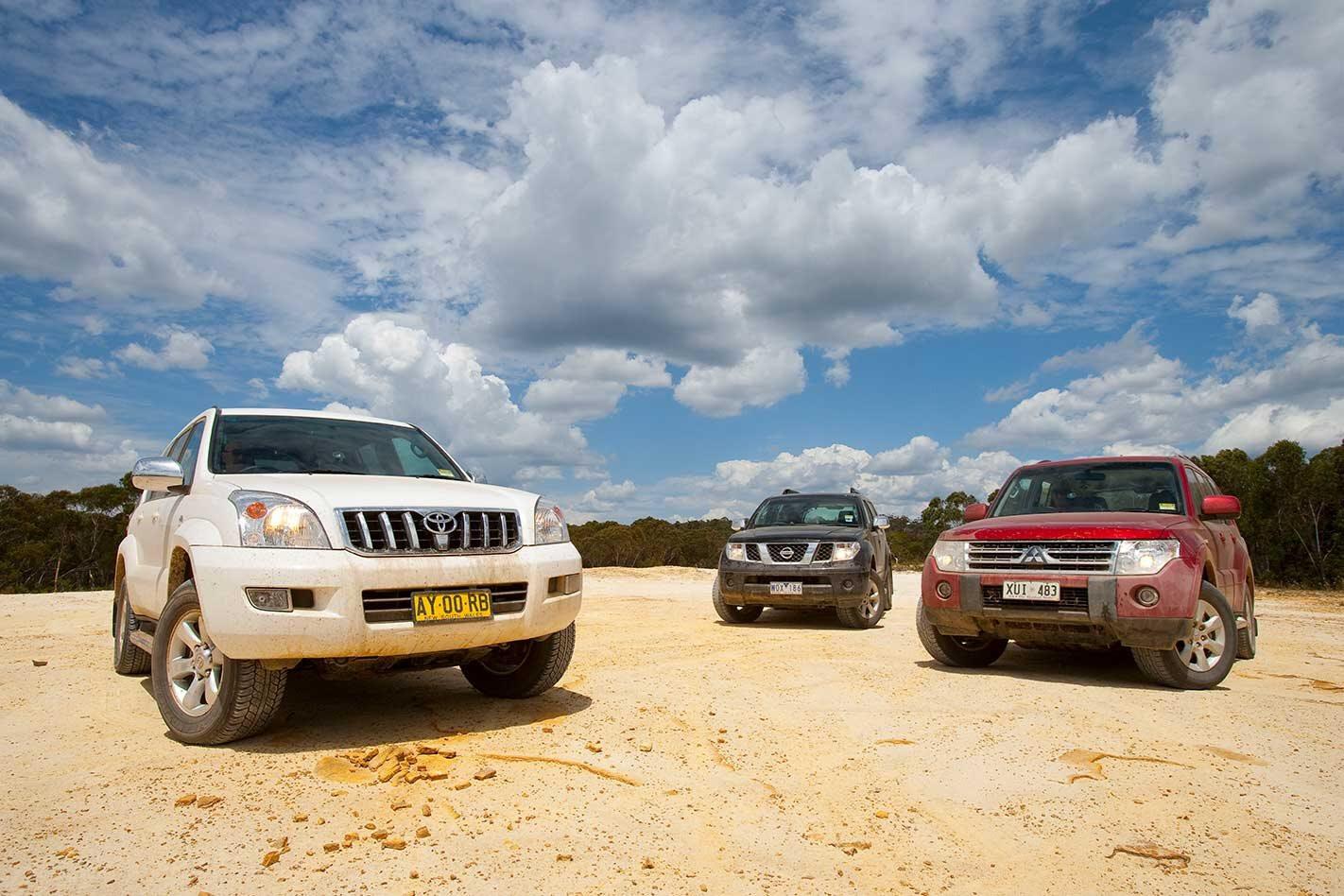 2009 Toyota Prado vs Nissan Pathfinder vs Mitsubishi Pajero comparison