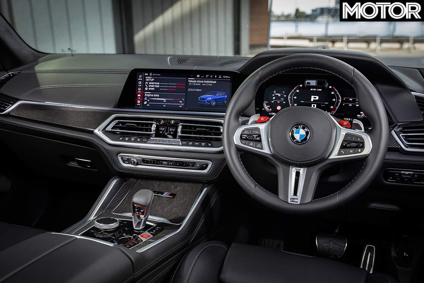 BMW X5M Competition dash