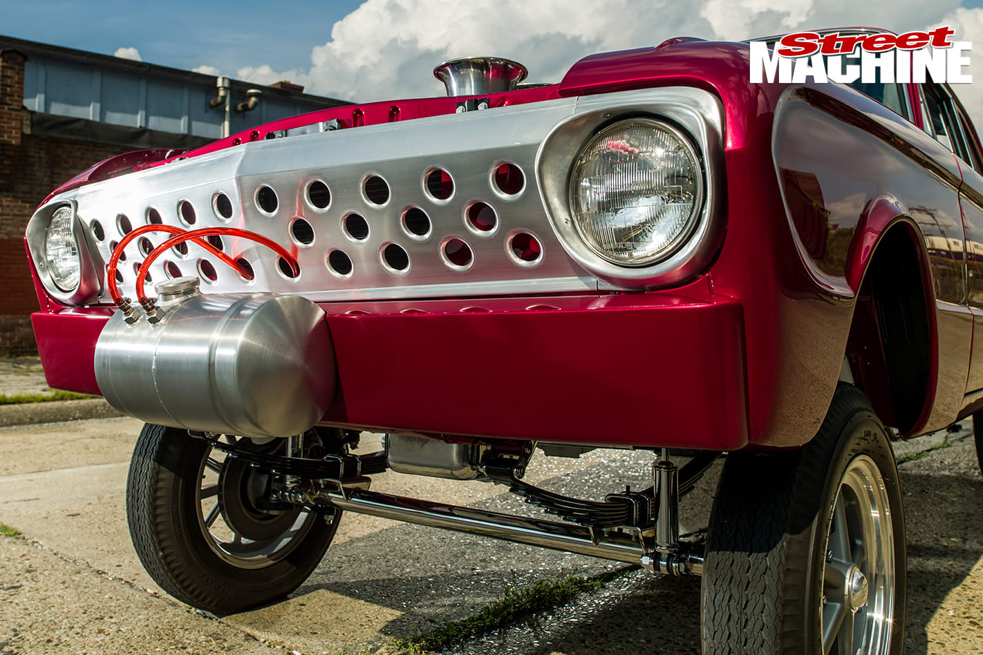 Ford -Falcon -gasser -front -detail