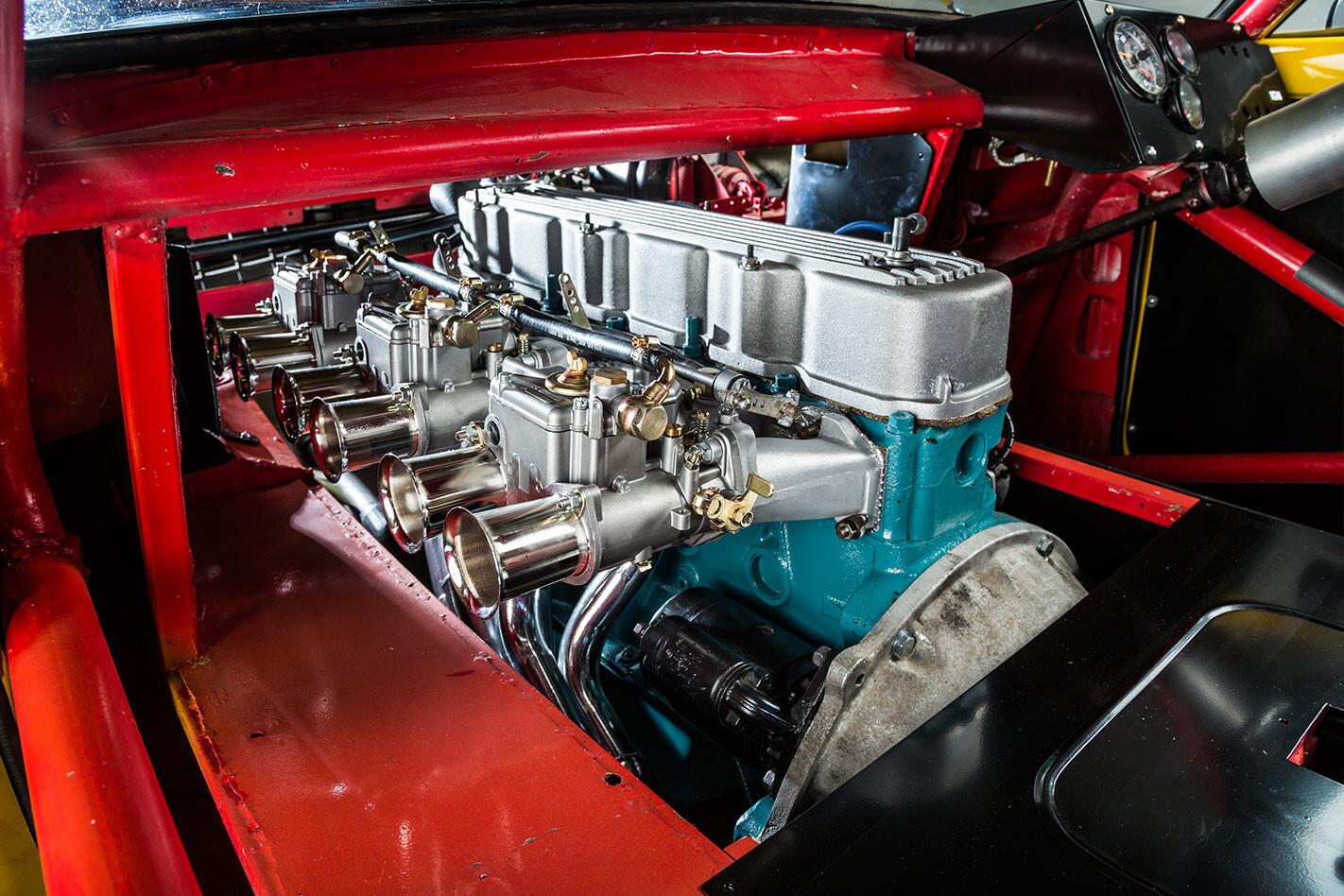 Holden LJ Torana sports sedan engine