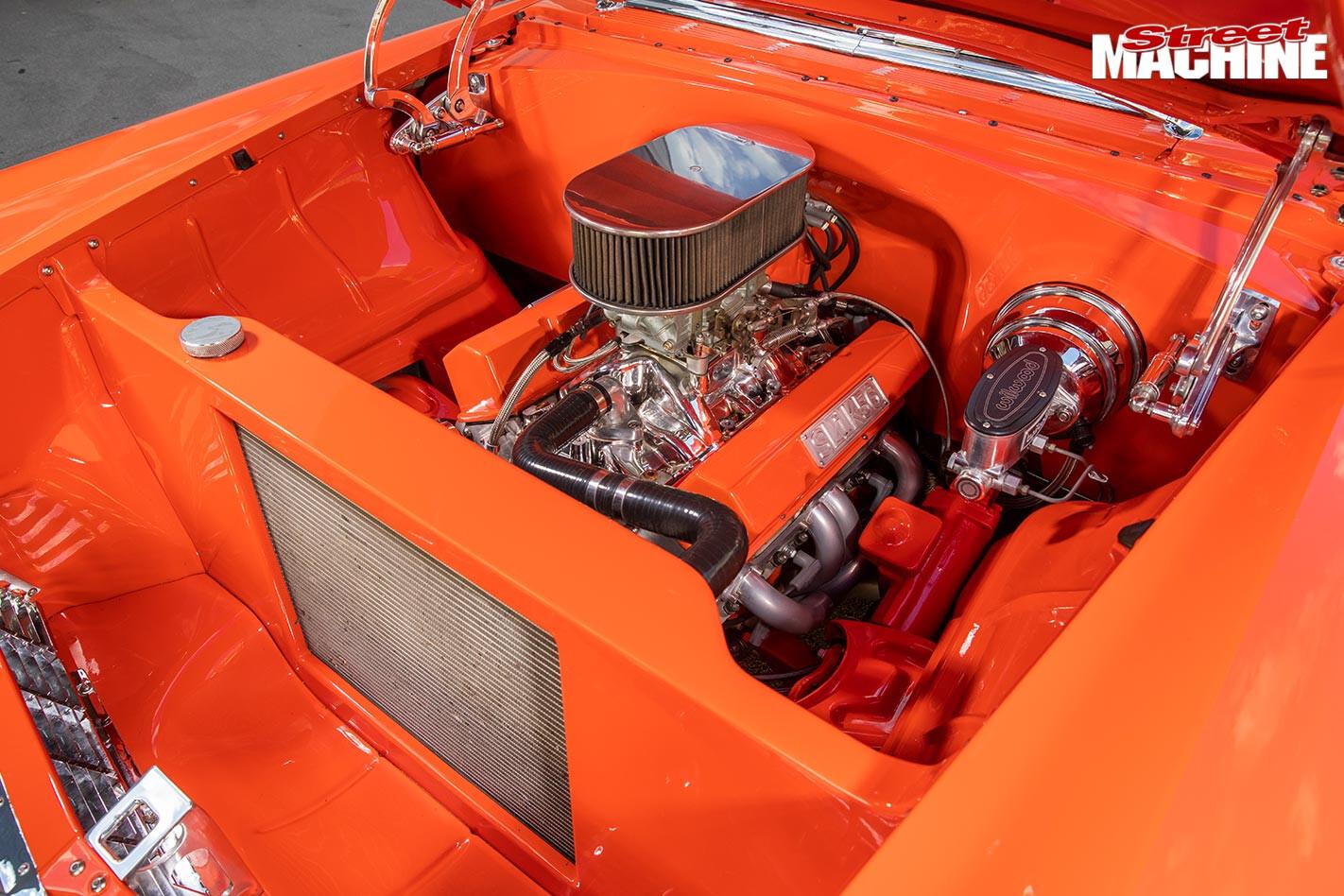 Chev 210 engine bay