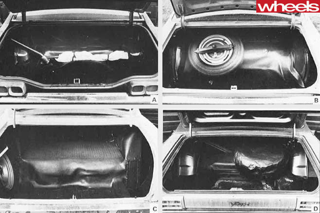 Four -car -comparison -review -Holden -vs -Lleyland -vs -Ford -vs -Valiant -boot