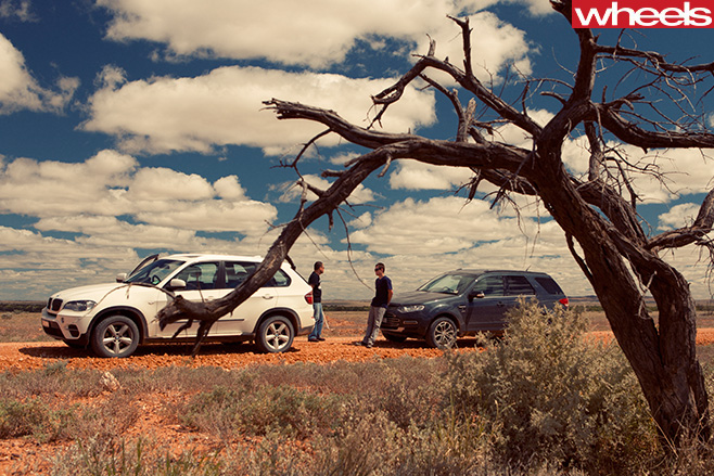 2011-Ford -Territory -with -BMW-X5-side