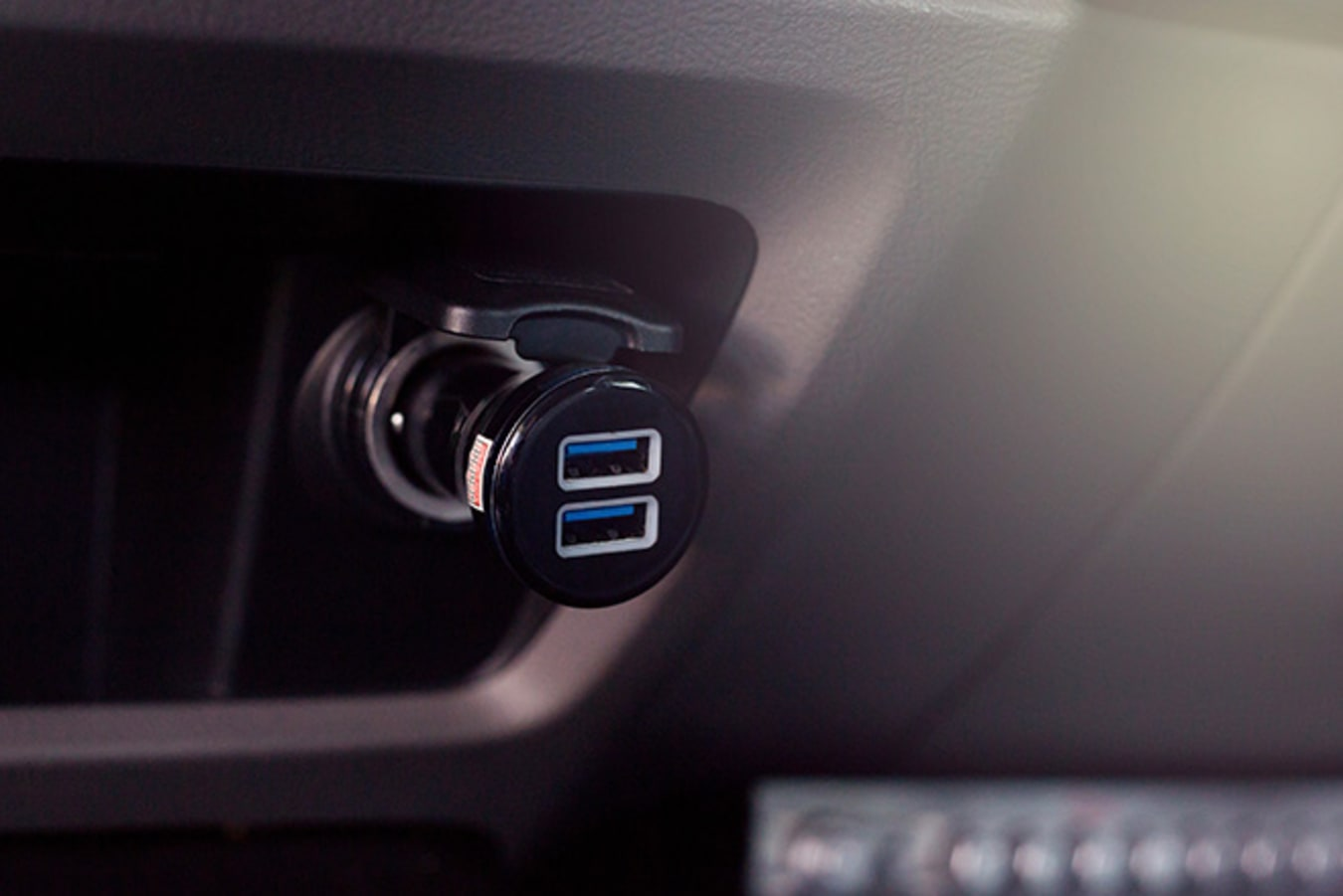 USB charger in car