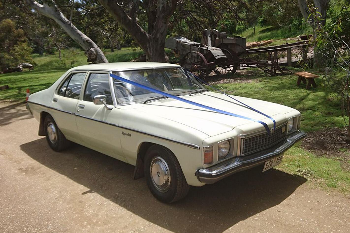 Paul Smith's Holden Kingswood wedding car