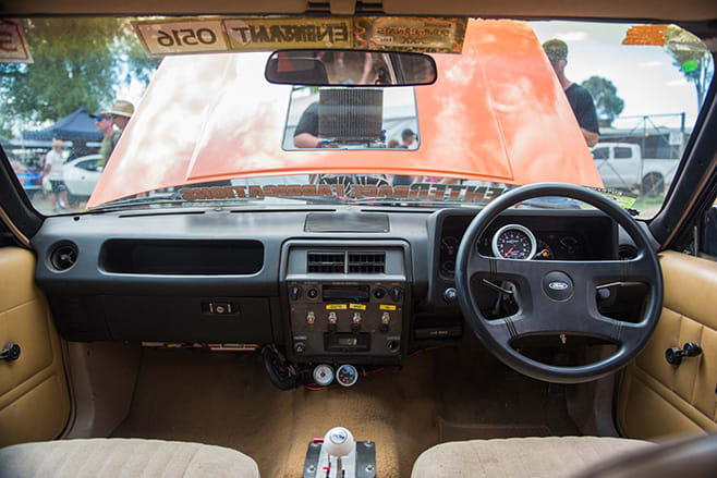 Robert Cottrell's Blown LS Powered XD Ford Falcon dash