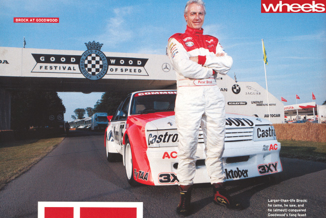 Peter -Brock -standing -out -front -of -HDT-Goodwood -Festival -of -Speed
