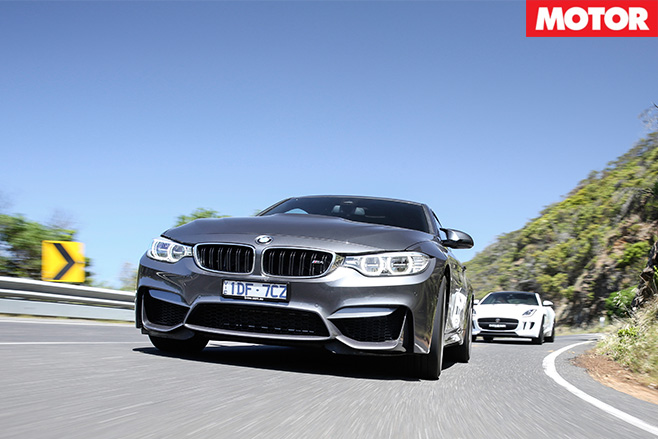 BMW M4 driving front