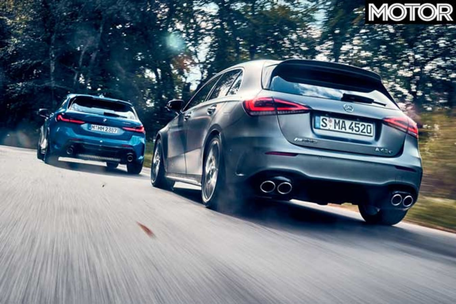 BMW M 135 I X Drive Vs Mercedes AMG A 45 S Comparison Performance Jpg