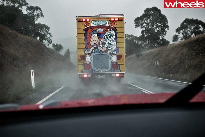 Mercedes -Benz -SLS-Cup -convertible -with -truck