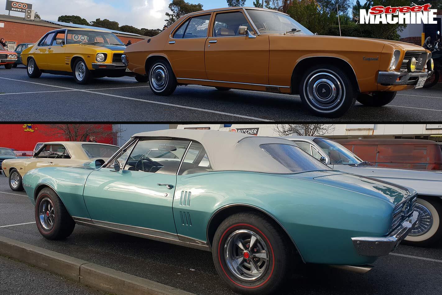 Holden HQ and Pontiac Firebird