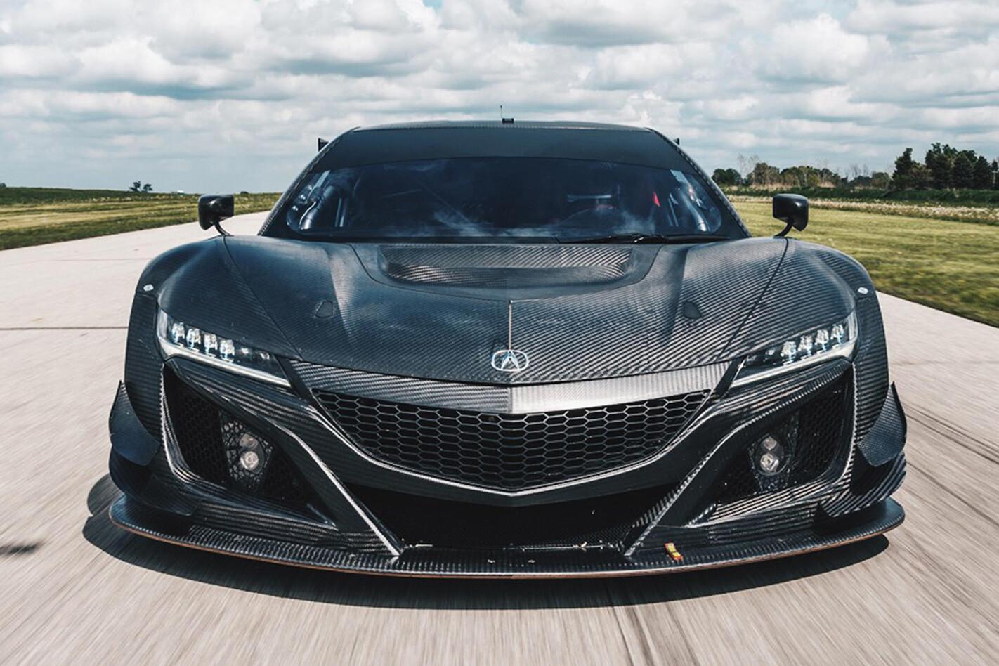 Honda NSX GT3 race car front