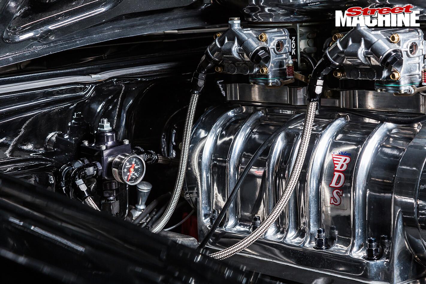 1957-Chevrolet -engine -detail
