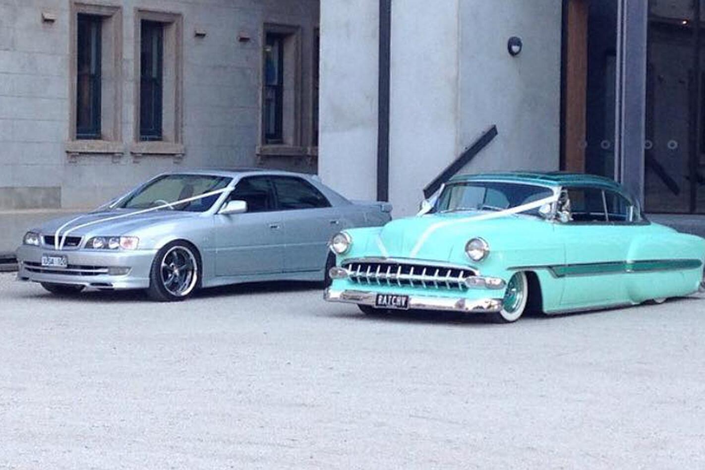 Holly Nelson's wedding cars