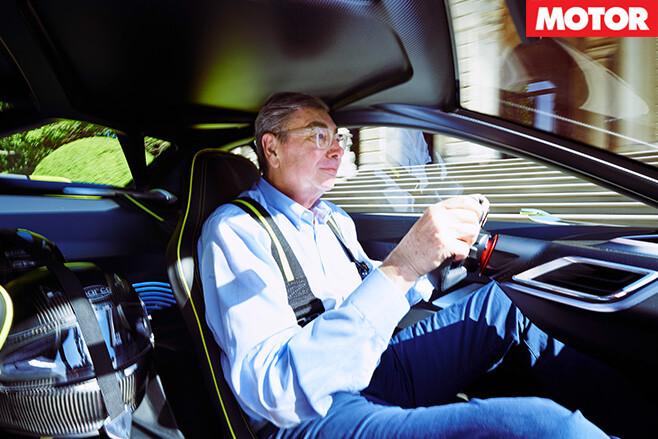 Kacher driving BMW CSL concept