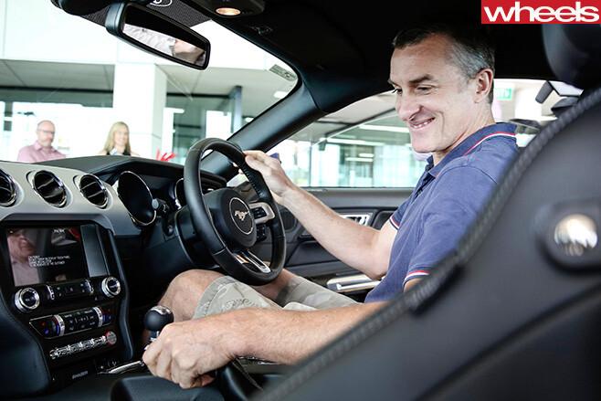 Tom -Elliott -first -Ford -Mustang -inside