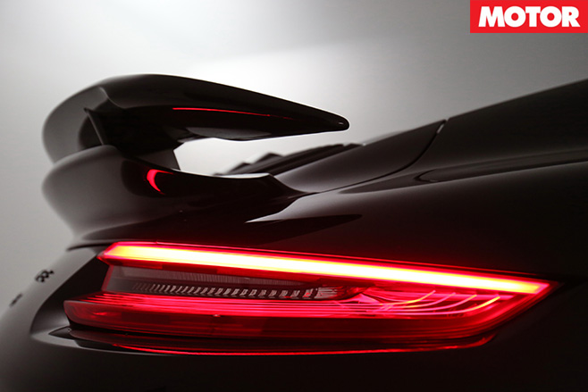 Porsche 911 turbo S rear lights