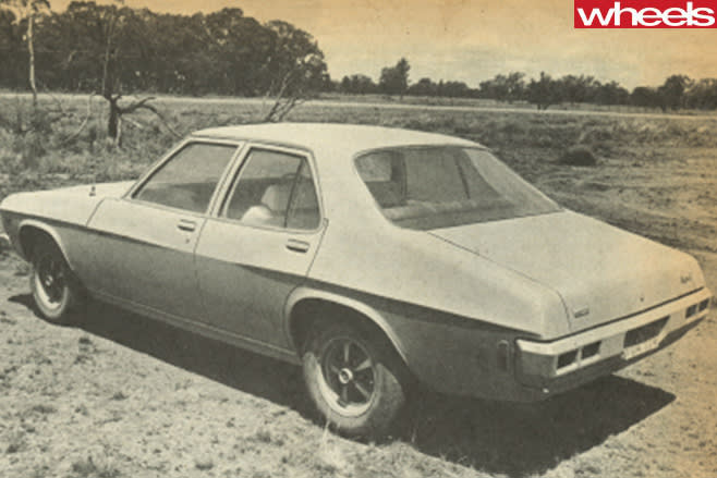 1972-Holden -Kingswood -black -white -rear