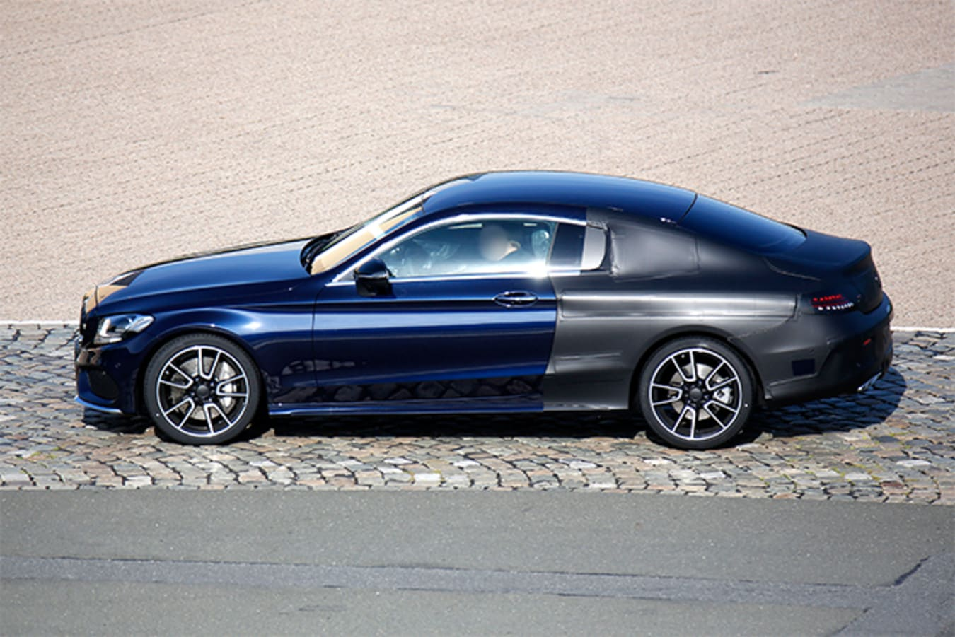2015-Mercedes -C-Class -Coupe -Spy -side -32