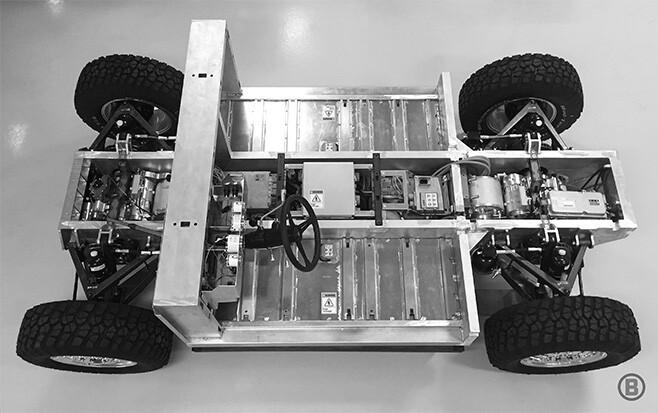 Bollinger Motors full electric 4x4 side