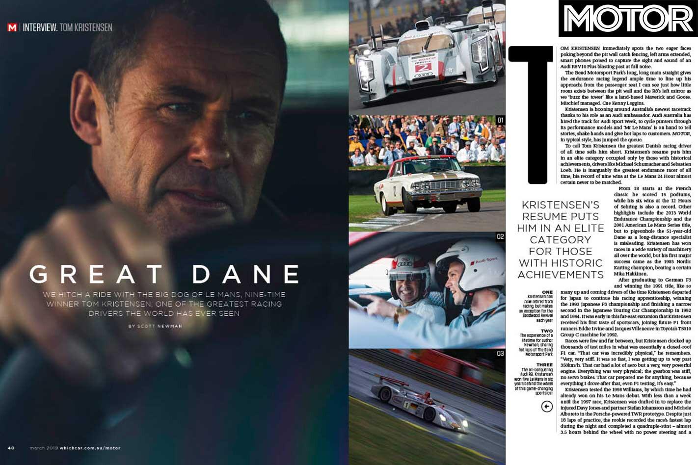 MOTOR Magazine March 2019 Issue Tom Kristensen Jpg