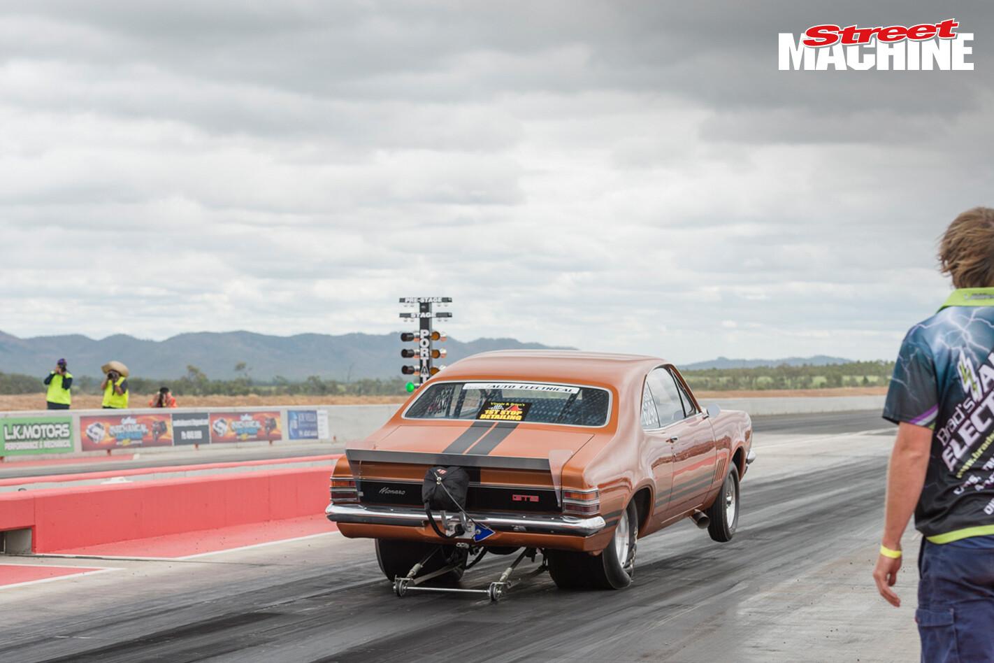 HT Holden Monaro Drag Race