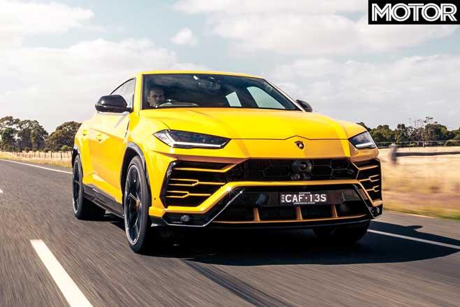 2019 Lamborghini Urus in yellow