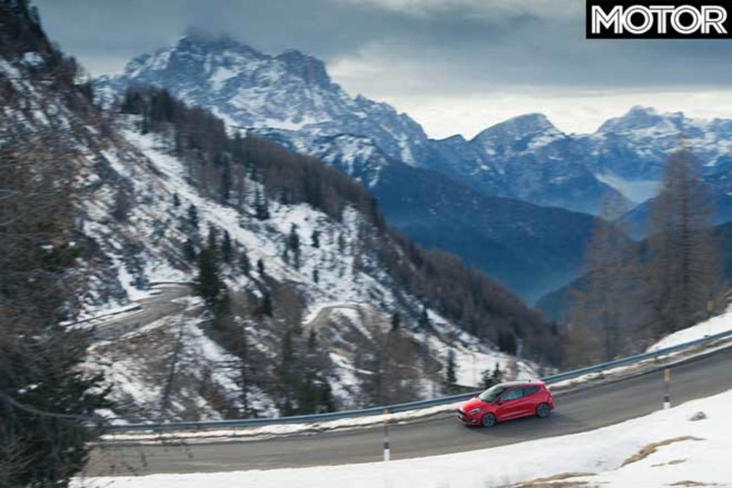 2019 Ford Fiesta ST Alpine Mountain Range Roads Jpg