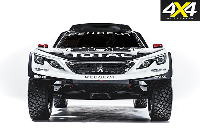 Peugeot's new 3008 DKR front